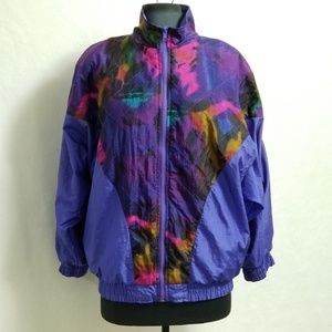 Vintage Oleg Cassini Windbreaker Track Jacket